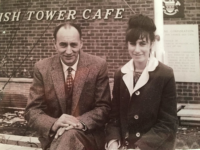 Dad and Me, Wish Tower Cafe Eastbourne around 1964