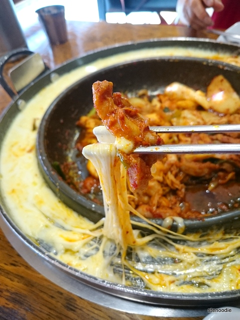 melted cheese chicken galbi