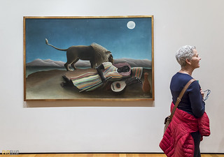 Henri Rousseau  The Sleeping Gypsy MOMA NYC 01 | by Eva Blue