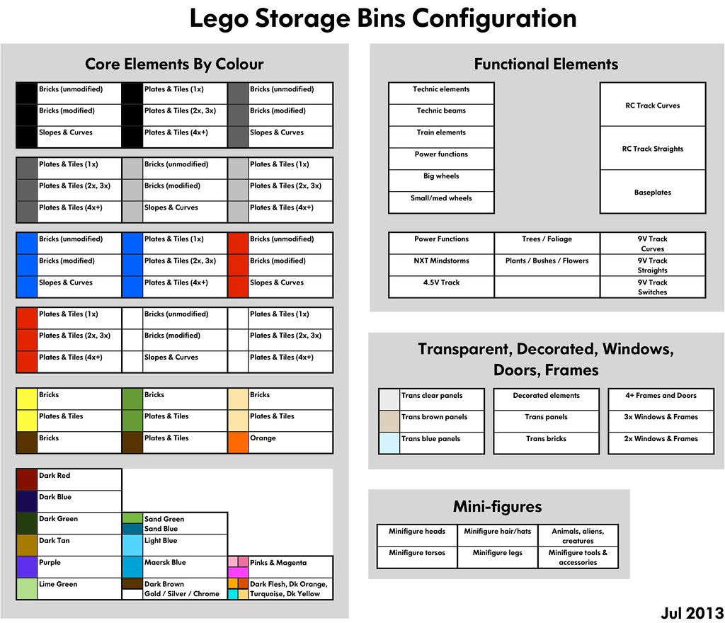 Lego Storage Bins Map as of Jul 2013 We hosted a party t Flickr