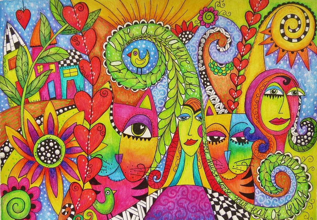 colorful doodle drawing to live a creative life you must flickr