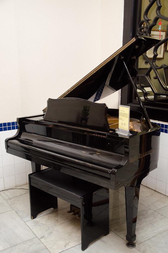 A grand piano in Hotel Puri Melaka