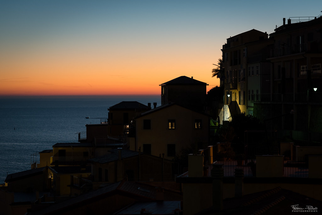 After sunset in Cinque Terre
