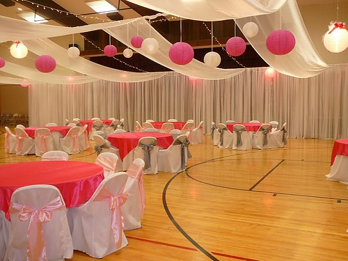 Cultural hall reception how to decorate a gym www for Wedding reception room decoration ideas