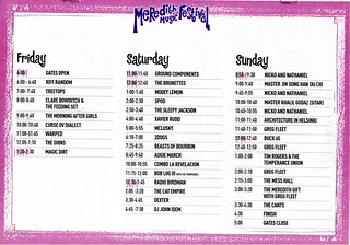 MMF2003 Playing Times | by Aunty Meredith