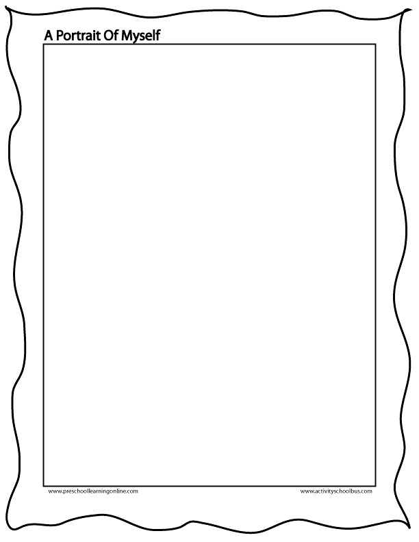 my family portrait worksheet & family portrait name tags