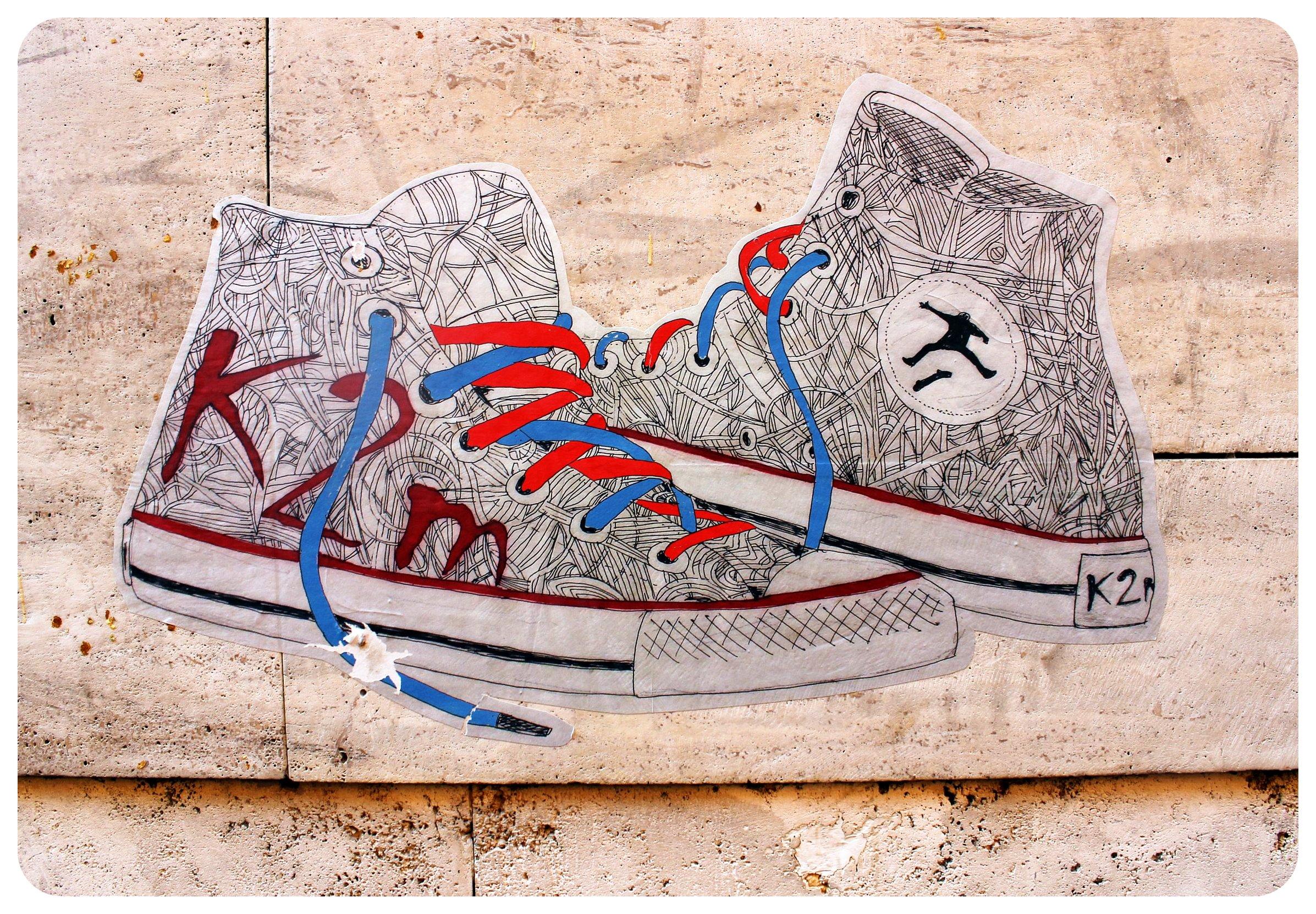 rome trastevere street art