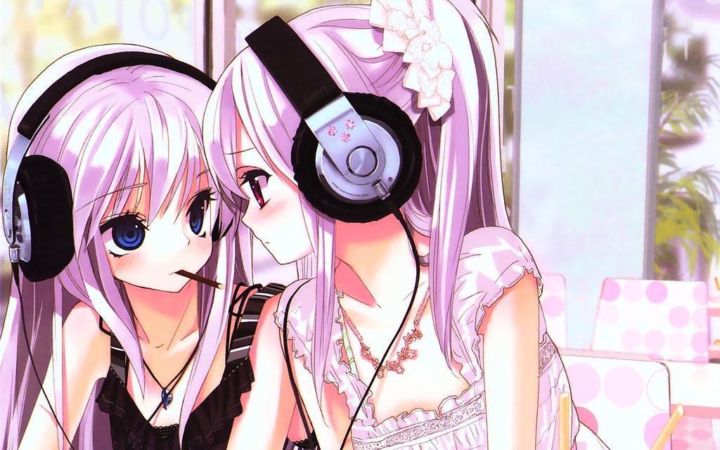 Wallpaper Kawaii Cute Earphones Nyashka Anime Nicole Saint Flickr