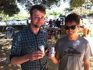 Evan and Ben, drinking PBR in a non-ironic fashion. | by kentbrew