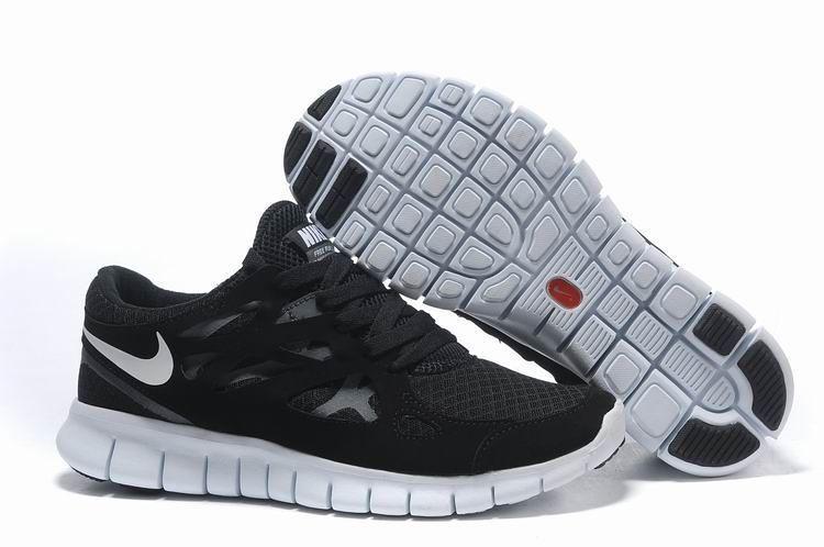 ... Nike Free Run 2 Black White  bbdc6b4e9