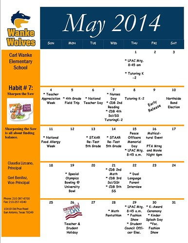 Parents Calendar MAY | by cjsmtd2002