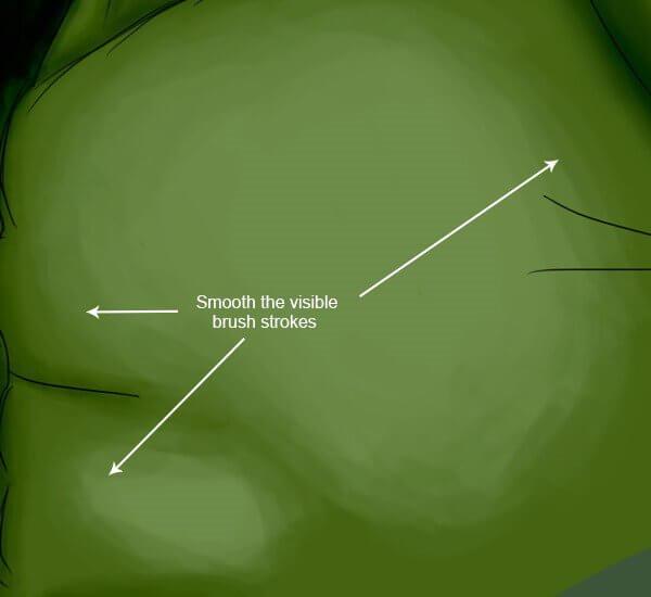 Создание великолепной CG иллюстрации невероятного Халка