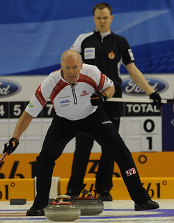 Basel Switzerland.April7_2012.Men's World Curling Championship.Canadian skip Glenn Howard.Scotland skip Tom Brewster.CCA/michael burns photo | by seasonofchampions