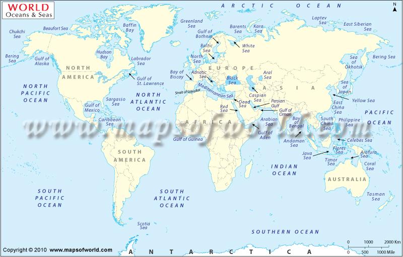 World Oceans Map Www Mapsofworld Com World Ocean Map Htm Pradeep