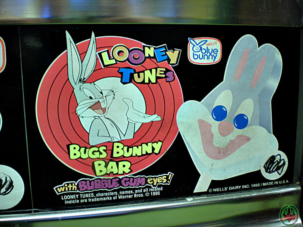 Blue bunny bugs bunny bar vendor sticker 1995