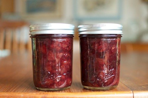 sweet and sour cherry jam | by Marisa | Food in Jars