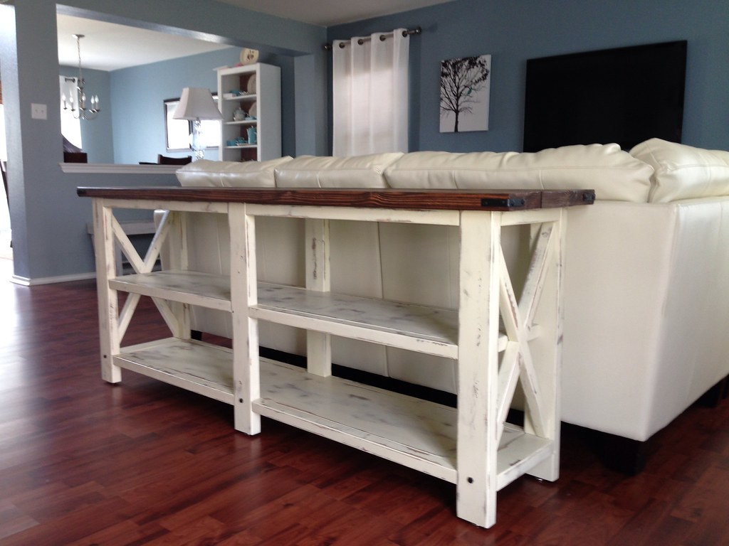 ... Hand Crafted Distressed Sofa Table. Beach Cottage Style. This Was A  Custom Made Piece