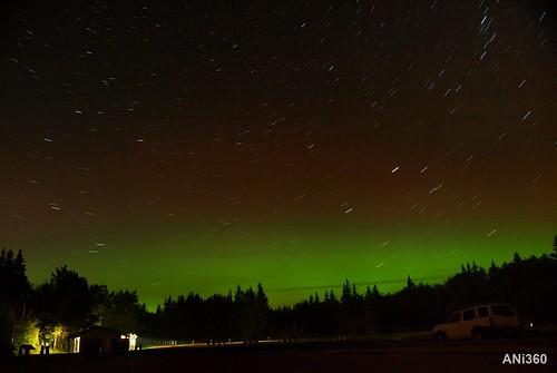 Northern Lights Star Trails Elk Island National Park