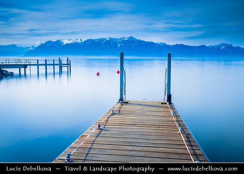 Switzerland Canton Of Vaud Lausanne On Shores Of Lake