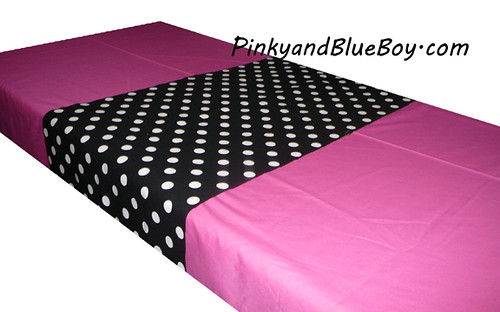 Black tablecloth material pink polka dots animal print min for Red and white polka dot decorations