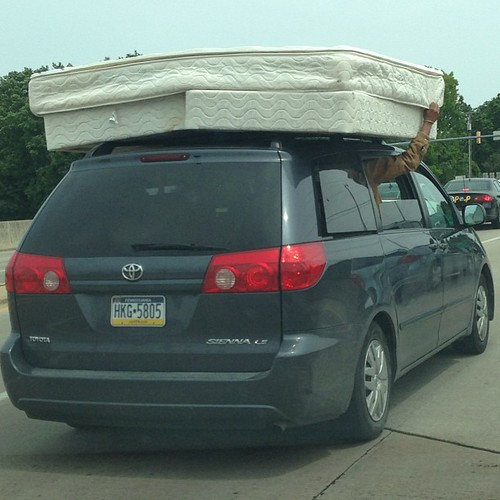 How not to transport a king mattress with box springs not