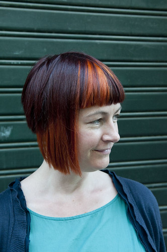 bob haircuts asymmetric bob highlights haircut by and 1434