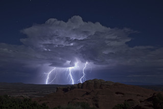 Lightning in Arches National Park Moab Utah 2013 | by Anthony Quintano