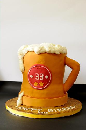 Cake Decorating Beer Bottle