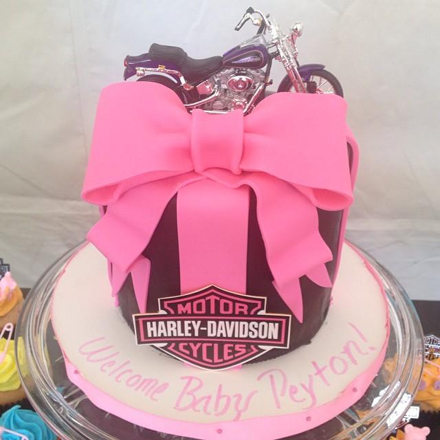 ... Harley Davidson Baby Shower Cake , Awesome Theme #imagineitcake  #harleycake #harley | By
