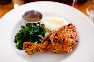 Horopito and Buttermilk Fried Chicken and Kale Slaw and Truffled Honey | by thewanderingeater