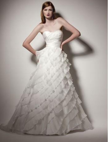 A-Linie 2 in 1 Organza trägerloses Brautkleid mit Layered …   Flickr
