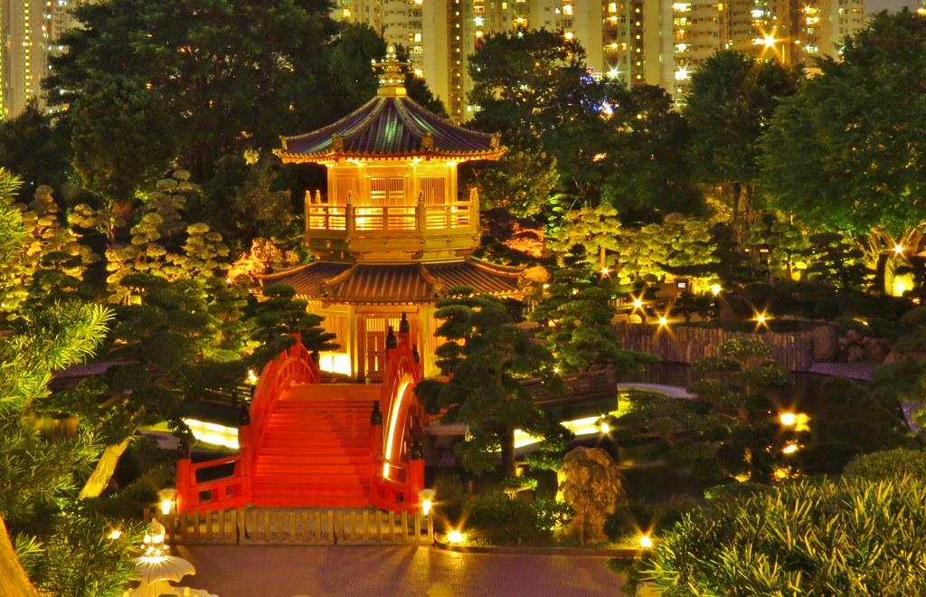 nan lian garden at night diamond hill kowloon hong kong by snuffy - Nan Lian Garden