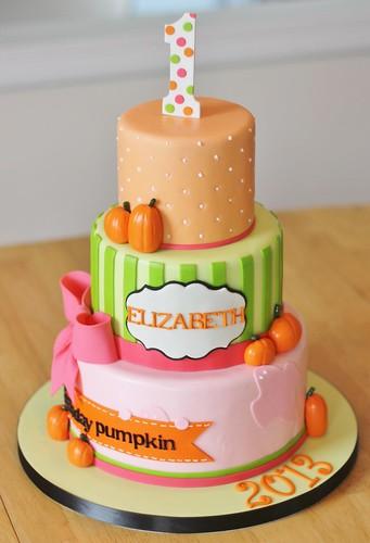 Pumpkin Themed Cake Topper