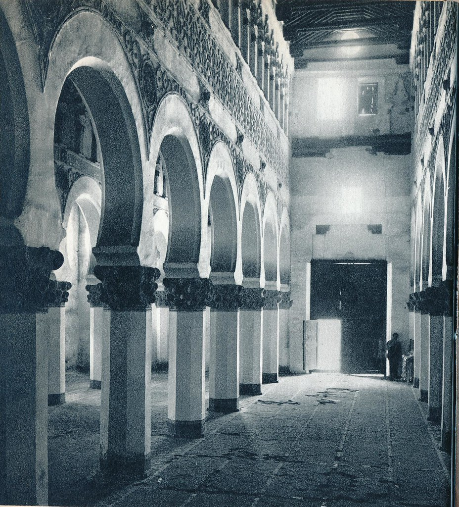 Sinagoga de Santa María la Blanca de Toledo en la primavera de 1955. Fotografía de Cas Oorthuys © Nederlands Fotomuseum, Rotterdam