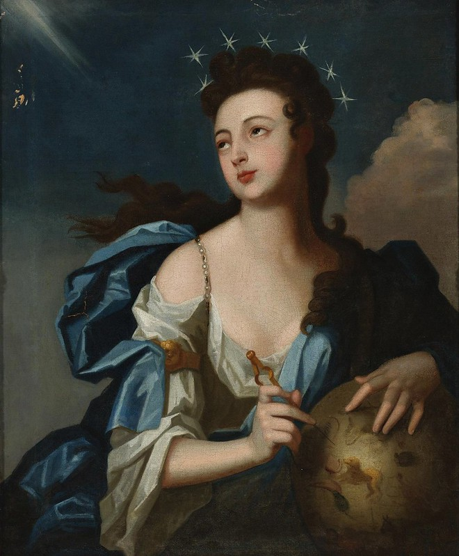 Louis Tocqué - Allegorical Portrait of Urania, Muse of Astronomy