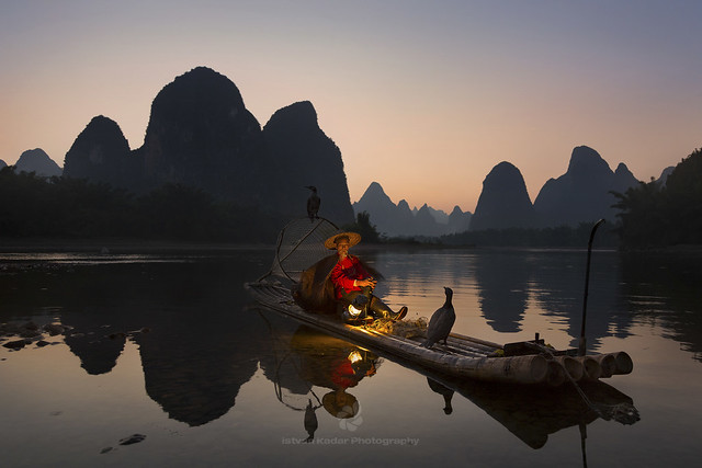 Cormorant Fisherman on Li River, Yangshuo, China