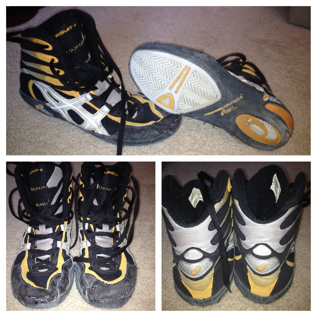 Asics p2 wrestling shoes NFS/T | Orange size 10 8.5/10 condi… | Flickr