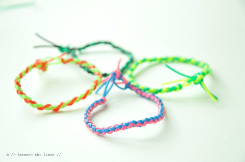 Four strand round braid bracelets | by // Between the Lines //