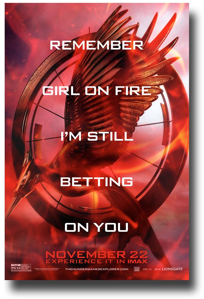 Catching Fire Poster Fire Symbol Text Via Concert Poster Flickr