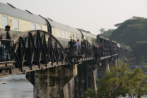 Train on Bridge over River Kwai | by Andrew and Annemarie