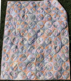 Coral and Pink Wedding Circles Quilt | by DanaK~WaterPenny