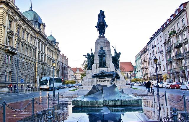 Grunwald statue, Krakow