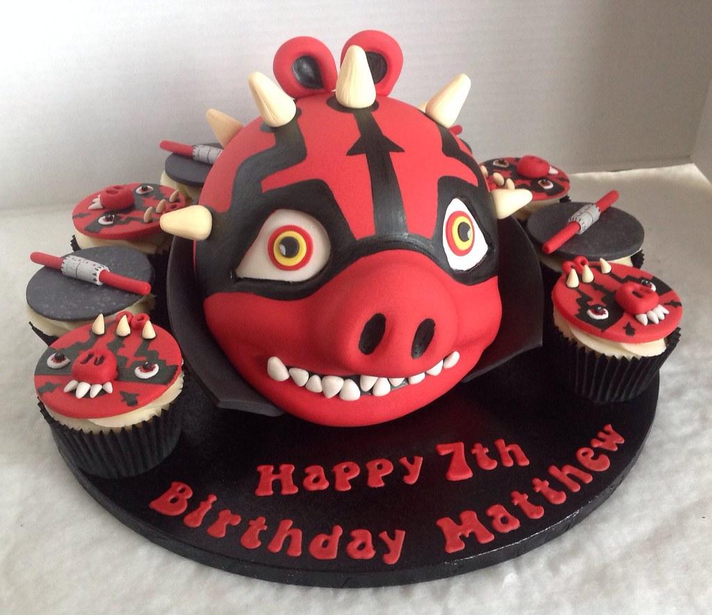 Angry Birds Darth Maul Birthday Cake Liz Flickr