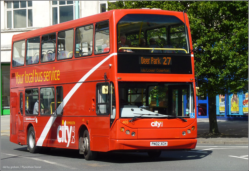 Plymouth Citybus 405 10 July 2014