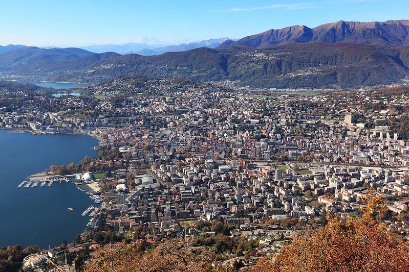Lugano from Monte Brè