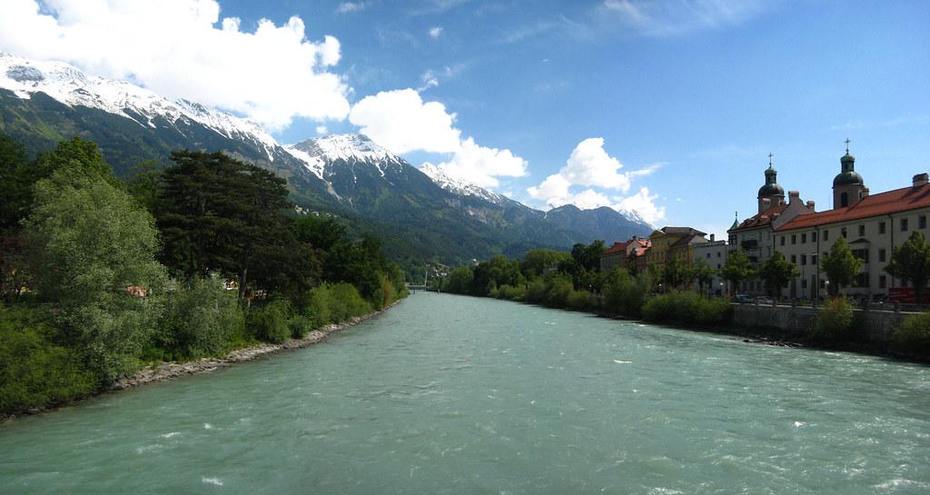 The river Inn, Innsbruck, Austria