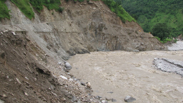 The normally cheerful Gori is a seething mass of rocks, mud and water after a bout of rainfall in 2013.