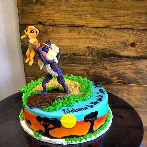 Lion Cupcake Cake