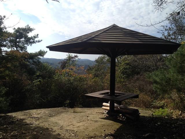 鬼岩公園 蓮華岩・烏帽子岩コース 展望休憩舎