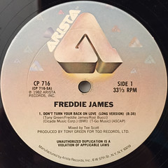 FREDDIE JAMES:DON'T TURN YOUR BACK ON LOVE(LABEL SIDE-A)